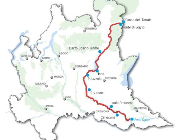 Ciclovia, Lombardia, fiume Oglio