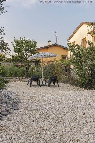 Il rilassante e riservato giardino interno